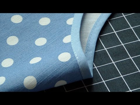 How to Sew Single Fold Bias Binding around Curves & Neckline