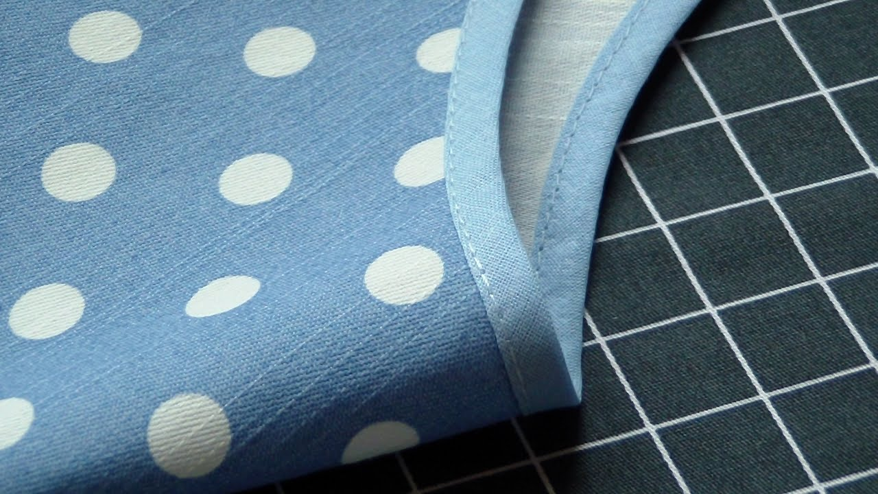 How to Sew Single Fold Bias Binding around Curves & Neckline