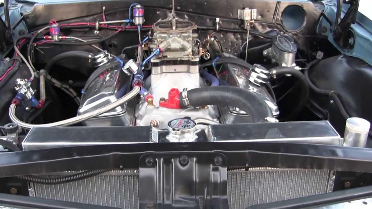 421 SBC  Small Block Chevy  Nitrous Set Up  1965