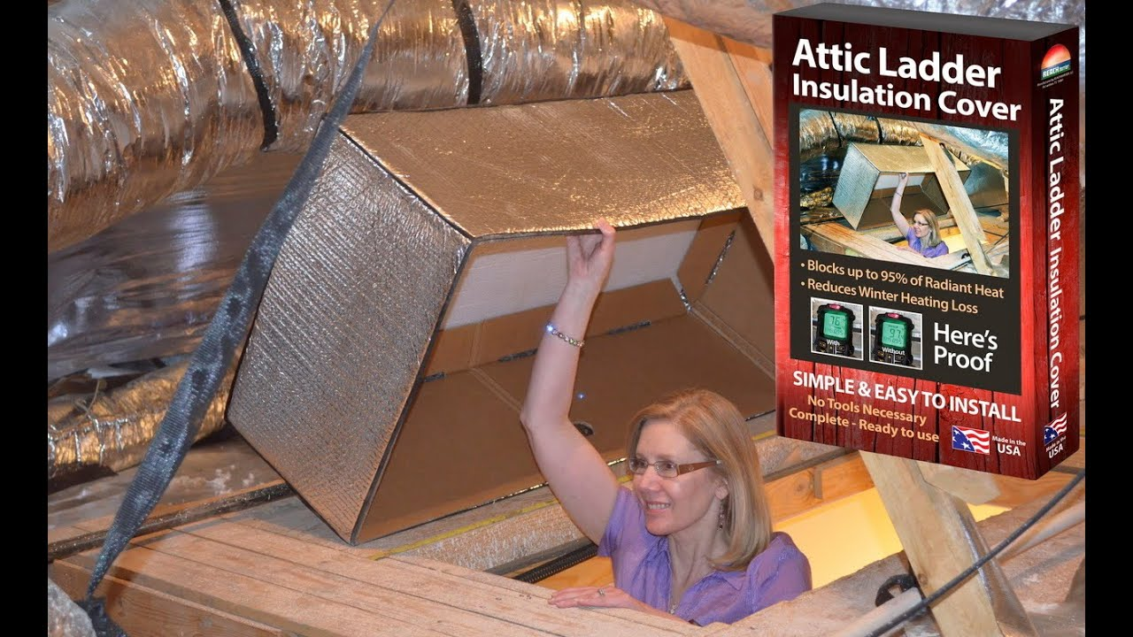 Reach Barrier 3139 Reflective Air² Attic Ladder Insulation Kit   YouTube