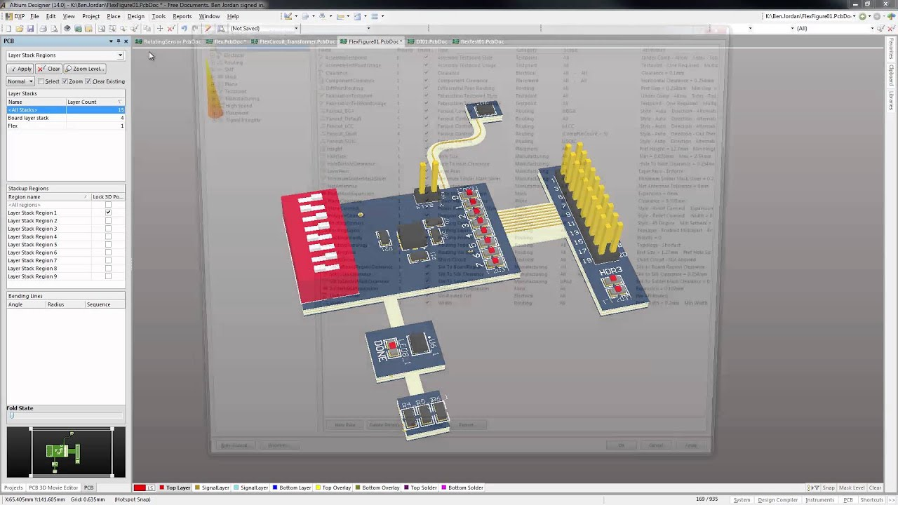 Altium Designer 14 3d Clearance Checking Of Flex Mounted