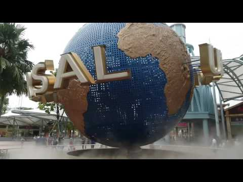 Singapore,  Universal Studios, Globe, hyperlapse | Sony Xperia Z5