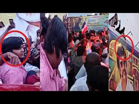 Karthik Suburaj celebrates Petta 25th day mass celebration with fans at Rohini Cinemas