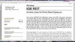 How to value REIT stocks   (if u did not get a REIT IPO, should you invest at higher price?)