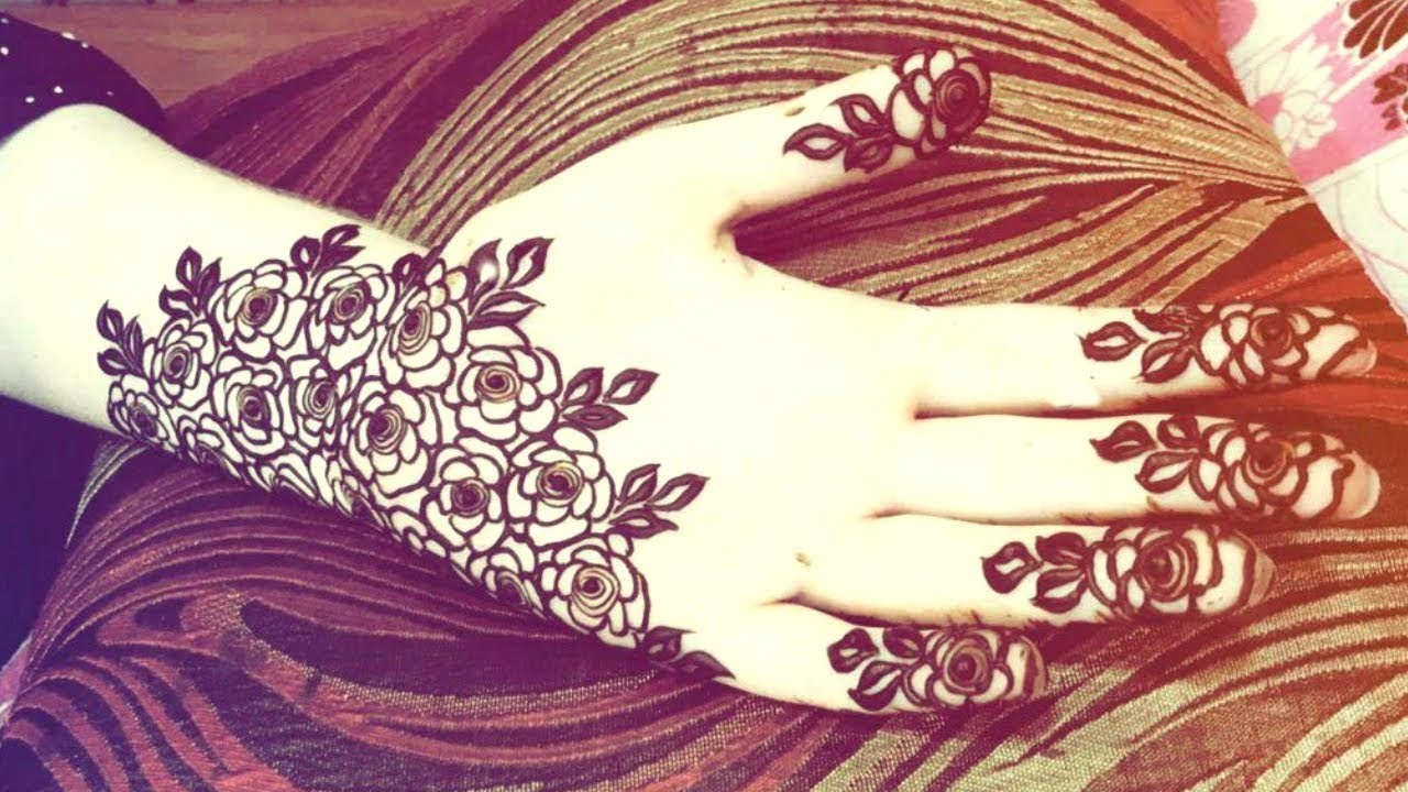 Arabic Rose Saudi Arab Style Mehndi Design Full Hand Look Mehndi