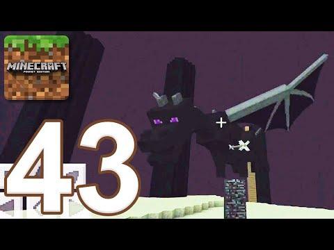 Minecraft: Pocket Edition - Gameplay Walkthrough Part 43 - Ender Dragon (iOS, Android)