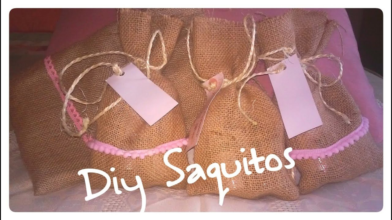 Diy como hacer sacos de tela welcome bags candermich youtube - Como hacer un cabecero de tela ...