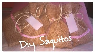 DIY como hacer sacos de tela (welcome bags) | Candermich