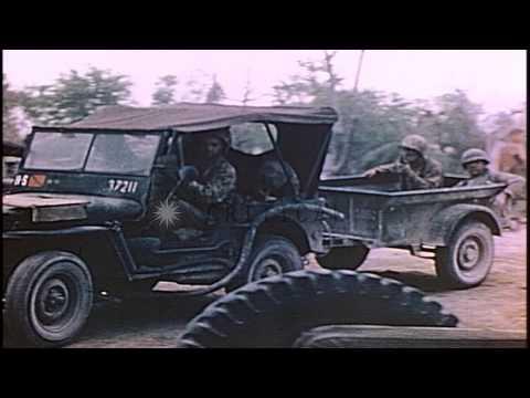 US Marines 2nd Division hospital in Saipan, Mariana Islands during World War II. HD Stock Footage