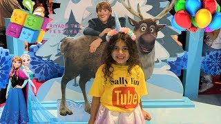 Sally Play with Frozen 2 and Princesses at Riyadh Toys festival