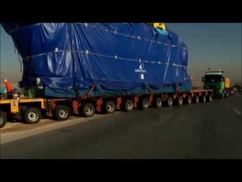 Heavy Transport- 295t Wartsila Engine-Jordan 2013
