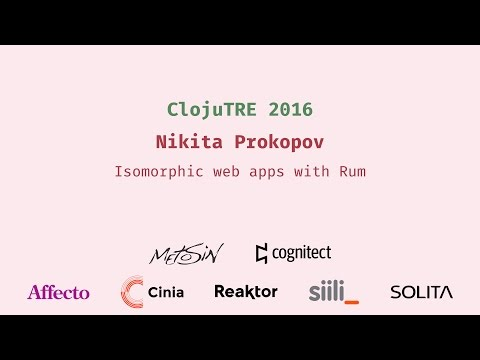 Isomorphic web apps with Rum
