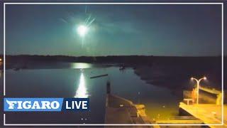 ✨ Les images IMPRESSIONNANTES de la météorite filmée en Bretagne