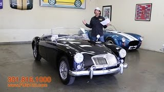 1958 MGA Roadster for sale with test drive, driving sounds, and walk through video