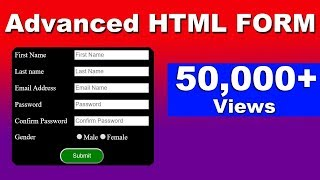 How to make html form with table | Html Forms