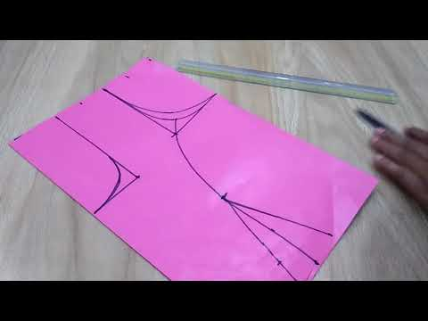 Princes cut blouse cutting (प्रिन्सस कट ब्लाउस की कटिंग 28 inch
