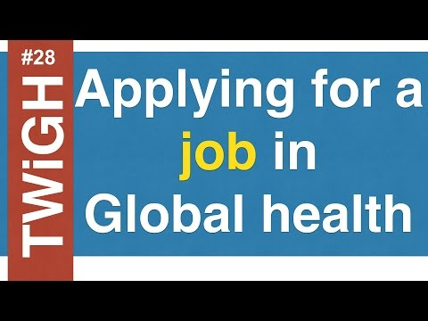 Apply and interview for jobs in Global Health