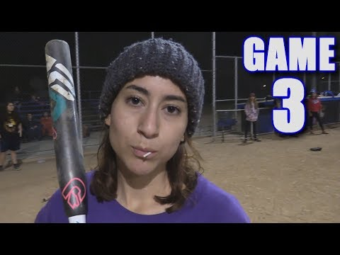 EMILY HOMERS IN HER FIRST GAME EVER! | Offseason Softball Series | Game 3