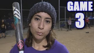 EMILY HOMERS IN HER FIRST GAME EVER!   Offseason Softball Series   Game 3 thumbnail