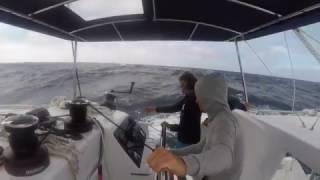 Antilles heavy storm lagoon 450s yacht
