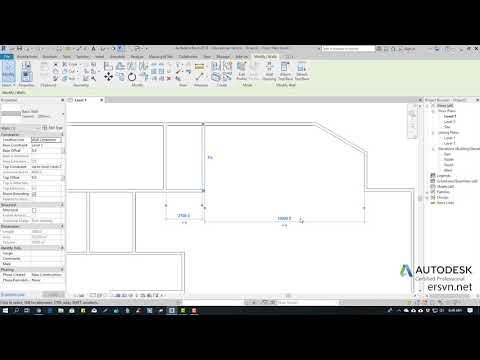 Hướng dẫn sử dụng Revit Architecture 2019 | Bài 27: Cách tinh chỉnh vị trí tường (wall) trong Revit