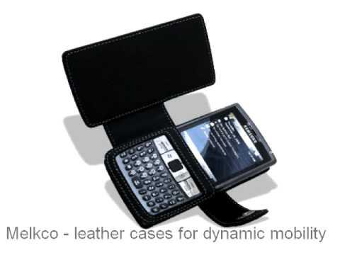 Melkco Tasche Leder Etui cuir ~ Samsung AT&T SGH-i907 Epix Book Type (Black)