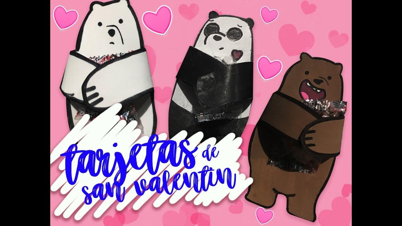 Tarjetas De San Valentin Faciles De Osos Escandalosos Fabiula Sd