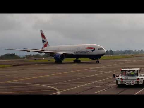 British Airways B777-200. Aeropuerto internacional Juan santa maria de Costa Rica