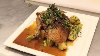 Roast Duck on a Bed of Apples With Celery : NYC Cuisine