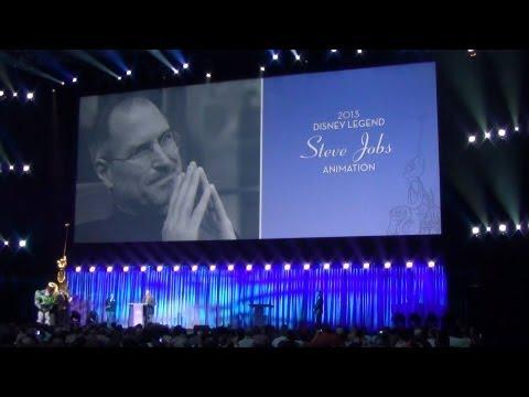 John Lasseter Accepts Disney Legends Award for Steve Jobs, Heartfelt Tribute to Apple Pioneer - D23