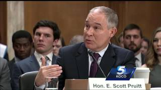 Scott Pruitt gets into heated exchange with Bernie Sanders during confirmation hearing