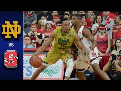 Notre Dame vs. NC State Men's Basketball Highlights (2016-17)