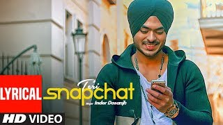 Inder Dosanjh: Teri Snapchat (Lyrical Song) Kaptaan | Latest Punjabi Songs | T Series Apnapunjab