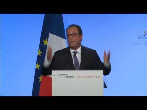 Extraits du discours du président français François Hollande du 08/09/2016