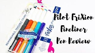 PILOT FRIXION FINELINER PEN REVIEW!