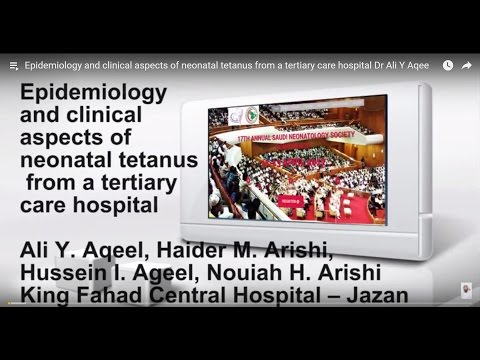 Epidemiology and clinical aspects of neonatal tetanus from a tertiary care hospital  Dr  Ali Y  Aqee