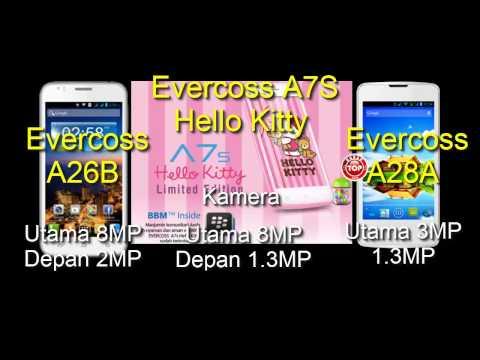 Evercoss A7S Hello Kitty, A26B dan A28A Hp Android Harga Murah