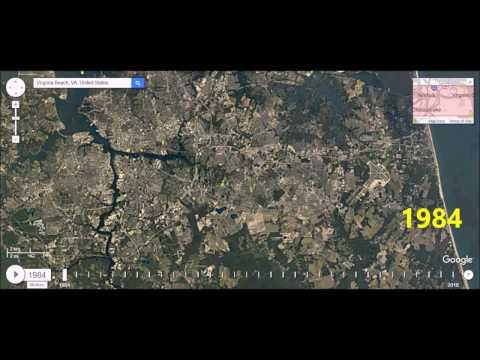Norfolk, Virginia - Urban Sprawl Time Lapse