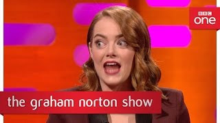 "Emma Stone Talks About Her Attempt At The ""Dirty Dancing Lift"" - The Graham Norton Show - BBC One"