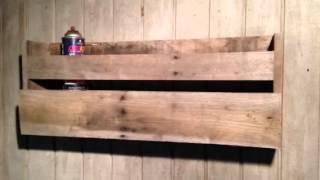 Wine rack with hidden gun compartment