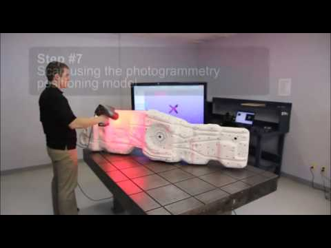 3D Laser Scanner:  Complete 3D scanning process using the MA
