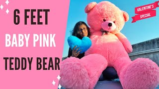 6 Feet Teddy Bear Unboxing Valentine Giant Teddy Bear Unboxing Best Birthday Gift For Girlfriend