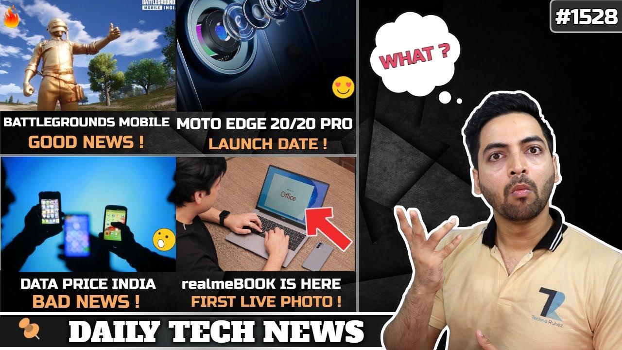 BGMI Good News😍,Data Price Hike India🤕,Moto Edge 20 August 5th,Redmi K50 SD895,POCO X3 GT,realmeBook
