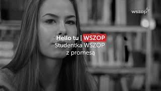 Studentka WSZOP z promesą