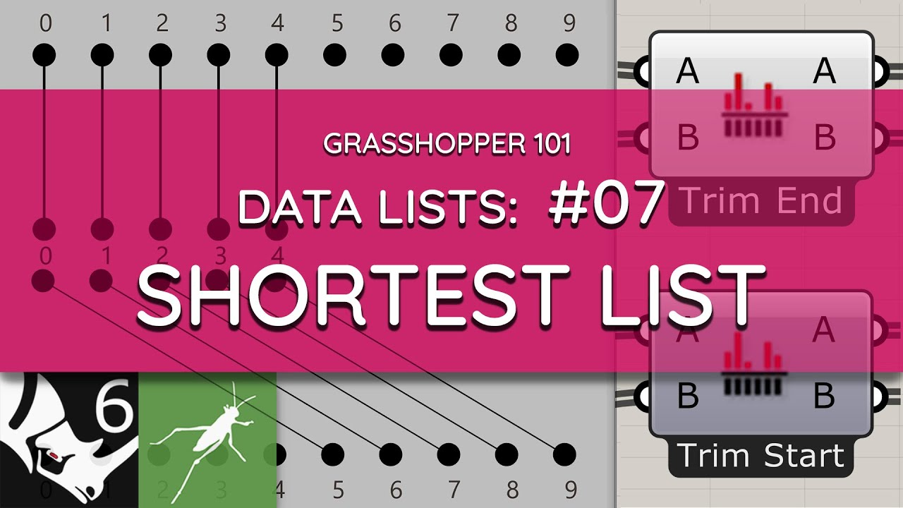 Grasshopper 101: Data Lists   #07 Shortest List   Data List Matching