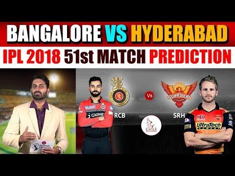 Royal Challengers Bangalore vs Sunrisers Hyderabad, 51st Match Live Prediction | Eagle Media Works