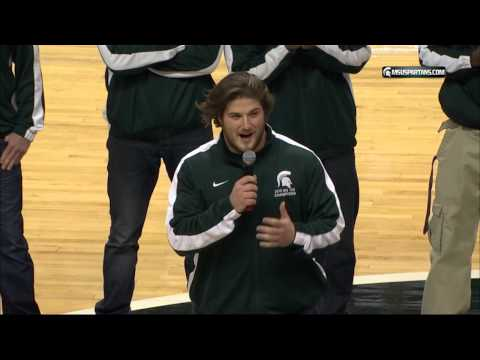 """Travis Jackson leads the Breslin center in """"YES YES YES"""""""