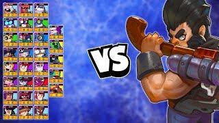 Bull 1v1 vs EVERY Brawler | Can ANYONE take him down?