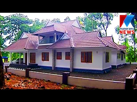 manjuvallil | kerala and colonial style house in kottayam | veedu