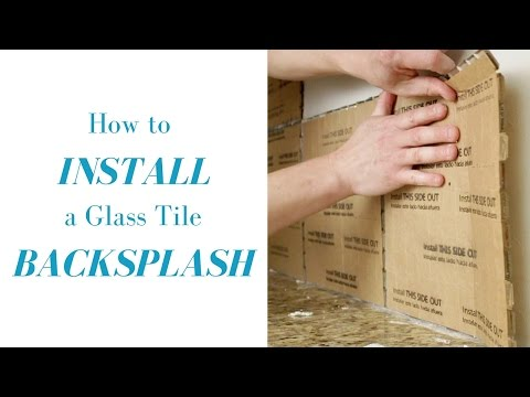 How to Install a Glass Tile Mosaic Backsplash